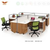 Hot Sale Melamine Work System Wooden Desk Staff Partition (HY-P04)