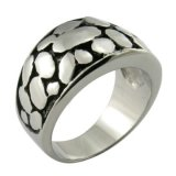 Mold Black Polished Rings Men Ring Custom Jewelry