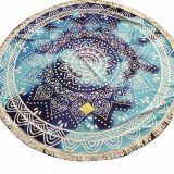 Wholesale Round Custom Printed Napping Microfiber Mandala Beach Towel