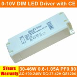30-46W 0-10V Dimmable Isolated Panel Light LED Driver with Ce QS1204