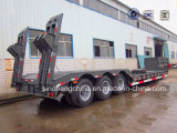 30 Ton Low Bed Flatbed Semi Truck Trailer 3 Axles