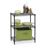 3 Layers Epoxy Coated Metal Wire Kitchen Shelf Rack with NSF Approval