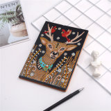 Bird on Antlers 5D DIY Special Shaped Diamond Notebook Diamond Embroidery Handicrafts Antelope Art