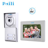 7 Inch Hands Free Wired Color Video Door Phone for 2families