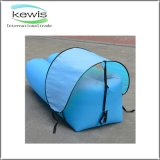 Light Blue Banana Shape Air Sofa for Outdoor Traveling