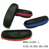 2018 New Design Slim PU Sunglasses EVA Glasses Case with Colored Zipper