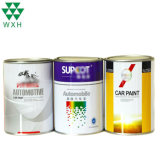 Custom Size 1L Tin Can Round Ring-Pull Paint Can Small Metal Tin Container with Lids for Car Paint Coating