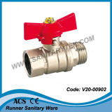 Brass Brass Valve with Butterfly Handle (V20-00902)