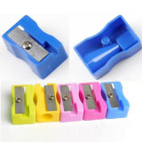Square Pencil Sharpener Knife Sharpener Various Colorful Pencil Sharpener with Metal Blade for Office and School