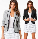 Autumn Fashion One Button Lapel Short Business Women Formal Coat