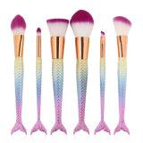 Wholesale 6PCS Makeup Brush Set Mermaid Fish Cosmetic Tool Premium