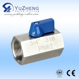 Stainless Steel Threaded BSPT Mini Ball Valve