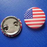 Flag Design Tin Badge, National Printing Emblem (GZHY-TB-004)