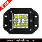 "5"" 24W Flush Mount CREE LED Work Light Square Pod Cube Light"