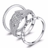 925 Sterling Silver Wedding Jewellery Cheap Engagement Ring Set for Couple Wholesale
