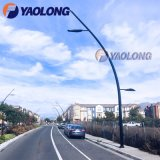 Outdoor 6m 7m 8m Stainless Steel LED Street Lighting Pole