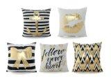 Sofa Decorative Cushions Gold Foil Printing Pillow Sofa Waist Throw Cushion Cover Home Decor (JOYMF03)