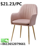 Best Price Indoor Fabric Metal Ergonomic Armless Home Dining Chair