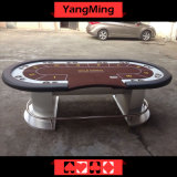 Casino Texas Poker Disc Oval Feet Value Benefits Texas Poker Table with 10 Player Customize Gambling (YM-TB018)