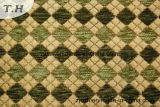 Green Gemotric Chenille Furniture Fabric (FTH31151)