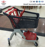 200L Supermarket 4 Wheels Plastic Shopping Trolley