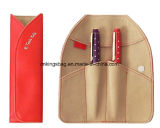 Luxury Leather Suede Foldable Stationery Pencil Pouch