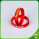 Wholesale Price Custom Logo Text Silicone Rubber Wristband for Party