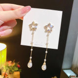Wholesale Cheap Fashion 8.3 Cm Elegant Pearl Earring Jewelry for Women