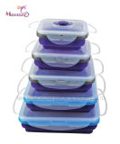 Hot-Seller Silicone Collapsible Lunch Box Set of 5