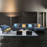 Nordic Design Blue Corner Furniture Fabric Sofa for Home