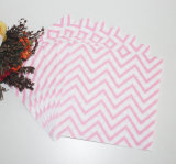 Pink Chevron Disposable Party Paper Napkin with Color Printed