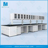 Steel Microbiological Steel and Wood Laboratory Island Bench