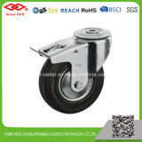 Black Rubber Bolt Hole with Brake Caster (G102-11D080X25S)