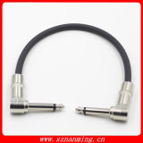 "Guitar Bass Effects Instrument Patch Cable with 1/4"" 6.35mm Right Angled Ts Connectors Cable"