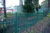 Power Coated Cast Metal Garden Security Fence
