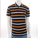 Wholesale Clothing Cheap Customized 100% Cotton Striped Polo Shirt for Men