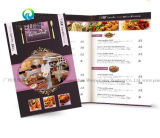 Custom Design Color Foldable Restaurant Menu Catalogue/Brochure/Booklet Printing