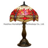 TFT-4253 Dragonfly Style Sea Blue Stained Glass Tiffany Table Desk Lamp