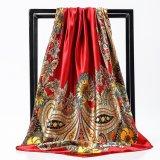 Wholesale Cheap Lady Silk Scarf Fashion Digital Silk Scarf Printing Women Printing Silk Scarf