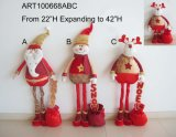 Expanding Legged Christmas Decoration Gift with Sequin Greetings+Giftbag
