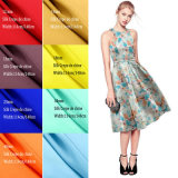40mm Floral Custom Design Screen Printed High Quality Silk Crepe De Chine Fabric