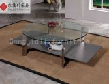 Tempered Glass Coffee Table with Stone Paint Tempered Glass