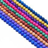 Semi Precious Dyed Lava Rock Beads Round Gemstone 4-14mm for Jewellery Bracelet Necklace Making