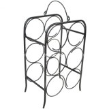 6 Bottle Tabletops Freestanding Metal Storage Wine Holder Rack