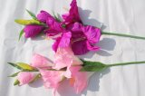Real Touch Artificial Flowers Lily Fake Flowers for Wedding Home Decoration