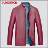 Fashion PU Jacket for Men Winter Clothing