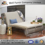 Well Furnir T-075 Steel Frame Sun Bed Double Chaise Lounge with Cushion