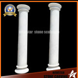 White Marble Hollow Column Stone Column Building Material