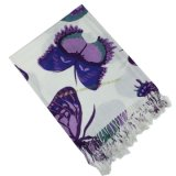 Beautiful Flower Printed Pashmina Scarf (YMKQ35)