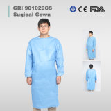 Disposable Nonwoven Waterproof Sterile Fabric Reinforced Level 3 47g SMS Chemotherapy Protective Anti Static Surgical/Isolation Gown/Coveral for Hospital Use